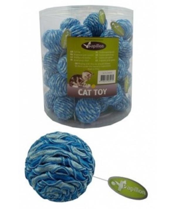 "Игрушка ""Мячик"" с погремушкой, 7см, текстиль (Blue/silver ball 4 cm with rattle in tube) 240035"
