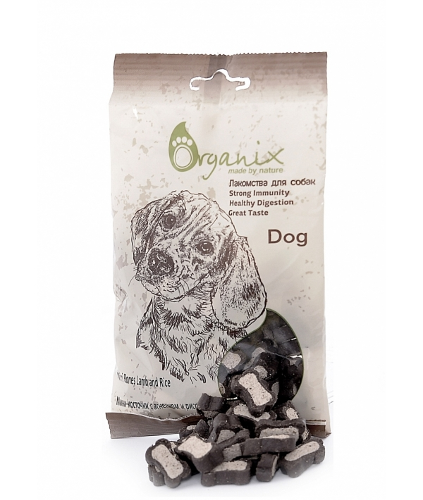 Лакомства для собак Мини – косточки с ягненком и рисом. (Mini Bones Lamb and Rice) D8010