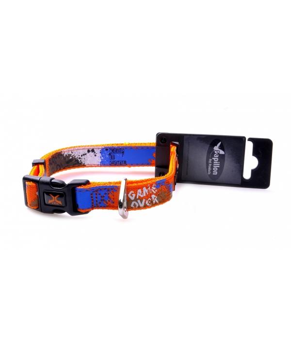 """Нейлоновый ошейник """"Рок – н – ролл"""" 20мм – 36 – 48см, оранжевый (Adjustable nylon collar, 20 mm x 36 – 48 cm, X – TRM Rock – N – Roll, colour orange) 170263"""
