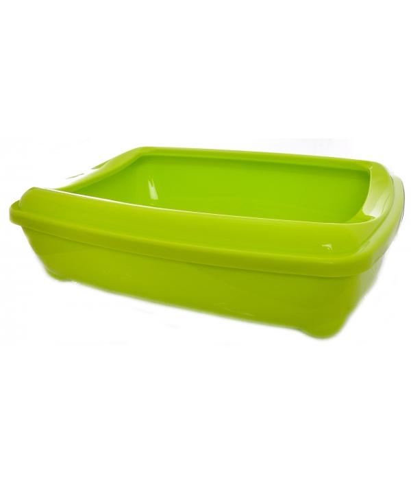 Туалет – лоток большой с рамкой artist large + rim, 57х43х15 jumbo салатовый