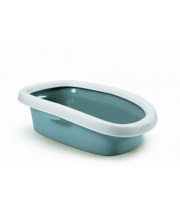 Туалет Sprint – 20 с рамкой, синий, 39*58*17 (TOILETTE SPRINT 20 BLU ACCIAIO/BIANCO) 96570