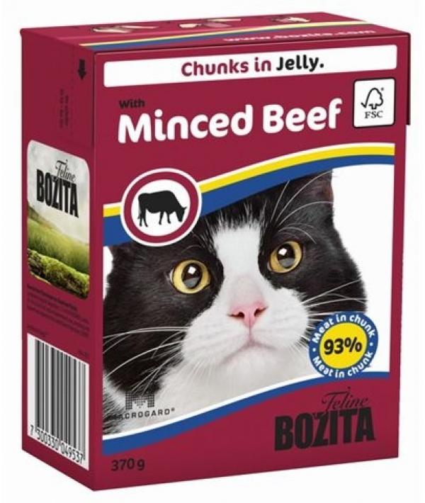Кусочки в желе для кошек c рубленой говядиной (with Minced Beef)