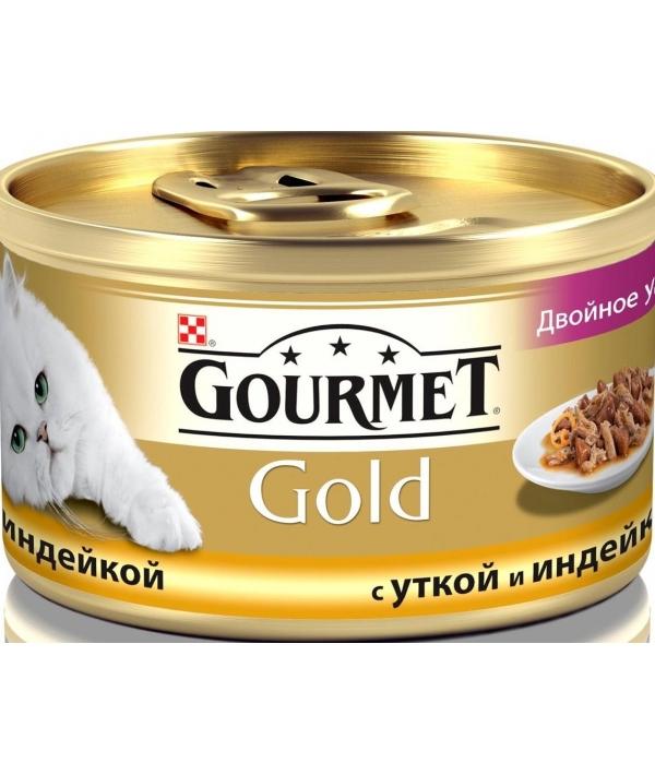 Кусочки в соусе с уткой и индейкой Gourmet Gold Duo д/кошек – 12032394/12318136