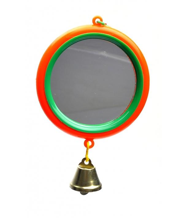 Зеркало с большим колкольчиком для попугая (5018)