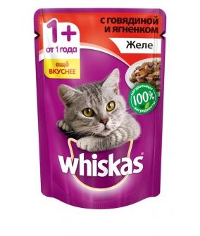 Паучи для кошек желе говядина и ягненок 10156238