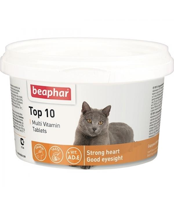 Витамины для кошек (Top 10 for cat),180шт. (10395/13213)
