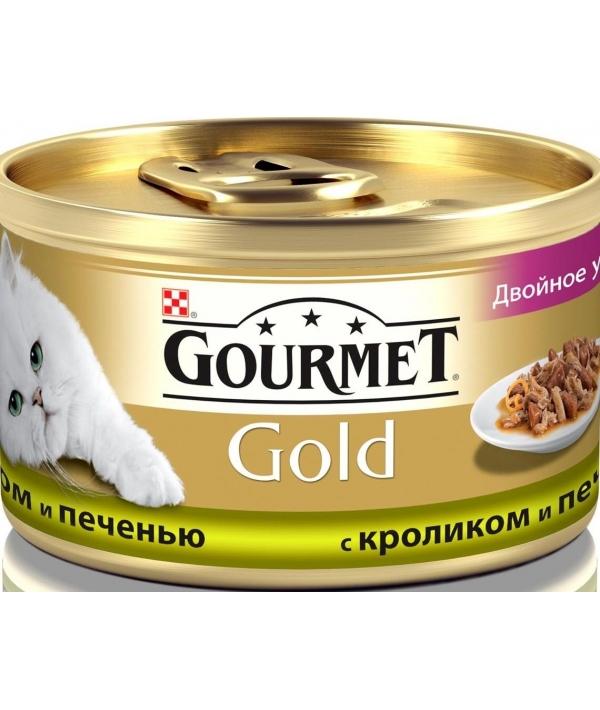 Кусочки в соусе с кроликом и печенью Gourmet Gold Duo д/кошек – 12032395/12318137