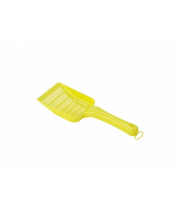 Совок для мелкого наполнителя, 10х28х4см, лимонно – желтый (scoopy small sifting) MOD – C155 – 329.