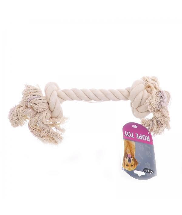 """Игрушка для собак """"Канат с 2 узлами"""", хлопок, 23см (Cotton flossy toy 2 knots) 140771"""