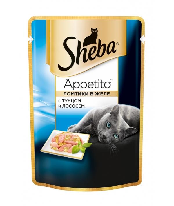 Паучи для кошек ломтики в желе с тунцом и лососем 10139818