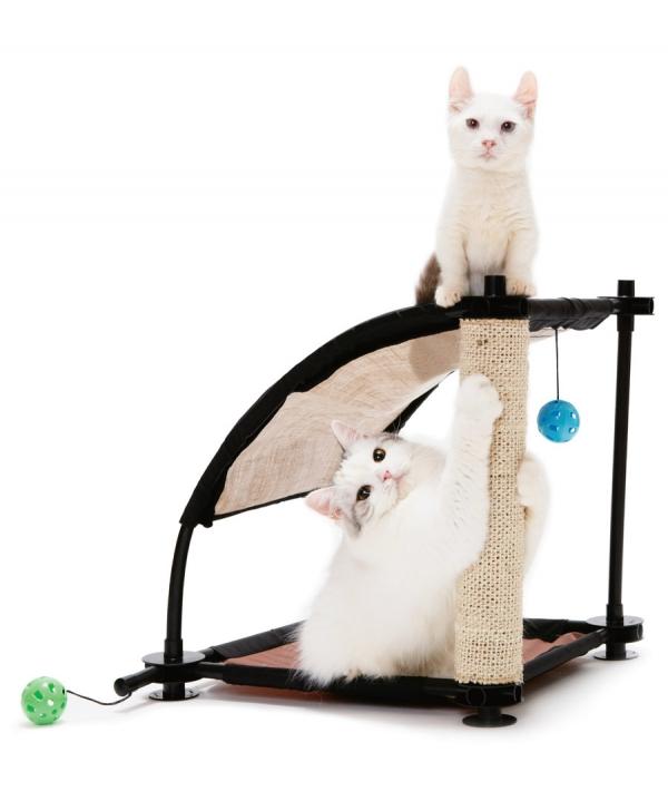 """Игровой комплекс с когтеточкой для кошек: Белая гора. """"Climbing Hill"""": 44*45*45см, сизаль (sp0304)"""