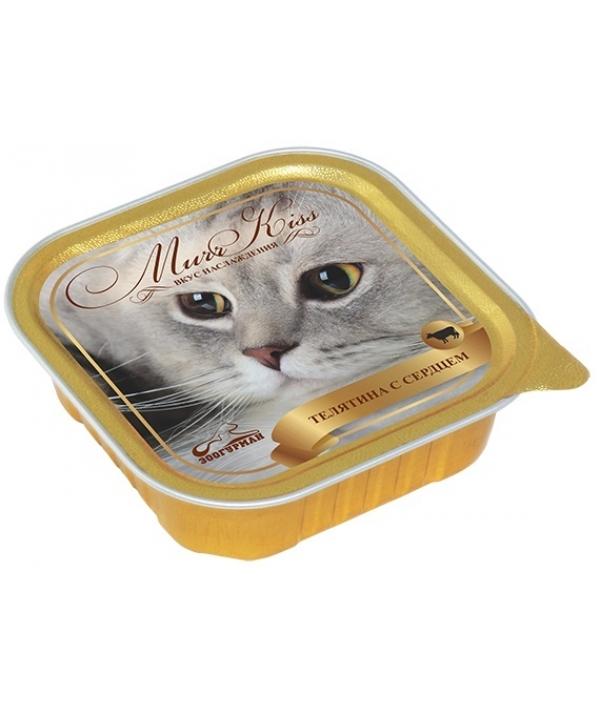 """Консервы для кошек """"МуррКисс"""" Телятина с сердцем (8788)"""