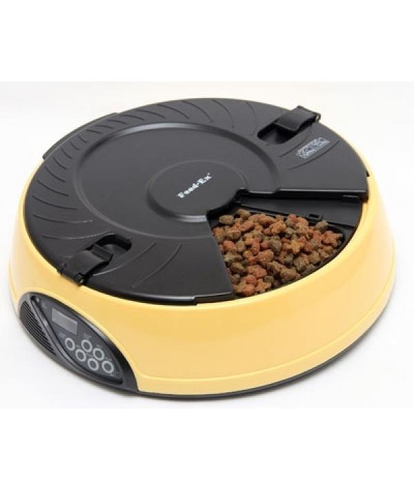 Автокормушка желтая на 6кормлений для сухого корма и консерв, с емкостью для льда PF6Y