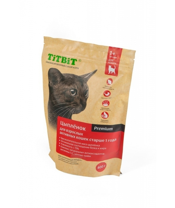 Сухой корм для активных кошек с цыпленком (9208)