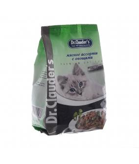 Для кошек – Мясное Ассорти + Овощи – Сухой корм