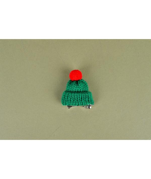 Заколка для собак в форме шапочки, зеленая (VIVI NARD – 7379) NARD – HP7379 – GR – FR