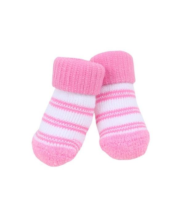 "Носочки для собак в полоску ""Долче"", розовый, размер L (11 см х 3,5 см) (DOLCE/PINK/L) PAOC – SO1268 – PK – L"