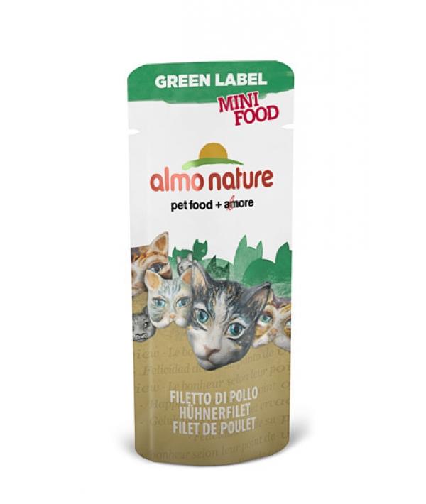 """Лакомство для кошек """"Куриное филе"""", 99% мяса (Green Label Mini Food Chicken Fillet) 500"""
