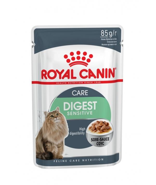 Кусочки в соусе для кошек 1–10 лет: отличное пищеварение (DIGEST Sensitive) 487001