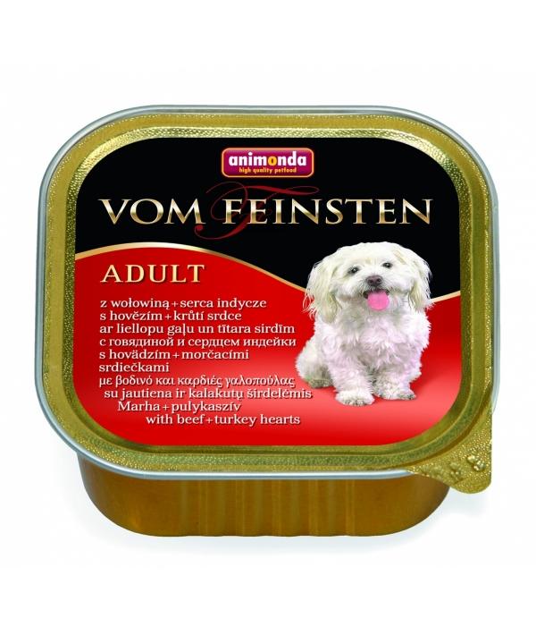Консервы для собак с говядиной и сердцем индейки (Vom Feinsten Classic)001/82612