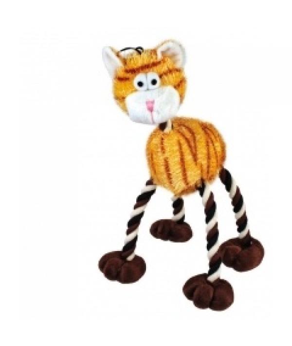 """Игрушка """"Тигр"""" для собак, 33см, плюш, хлопок (5625918)"""