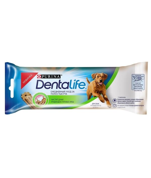 Лакомство для собак крупных пород Здоровые зубы и десна DENTALIFE Large Single 12366292