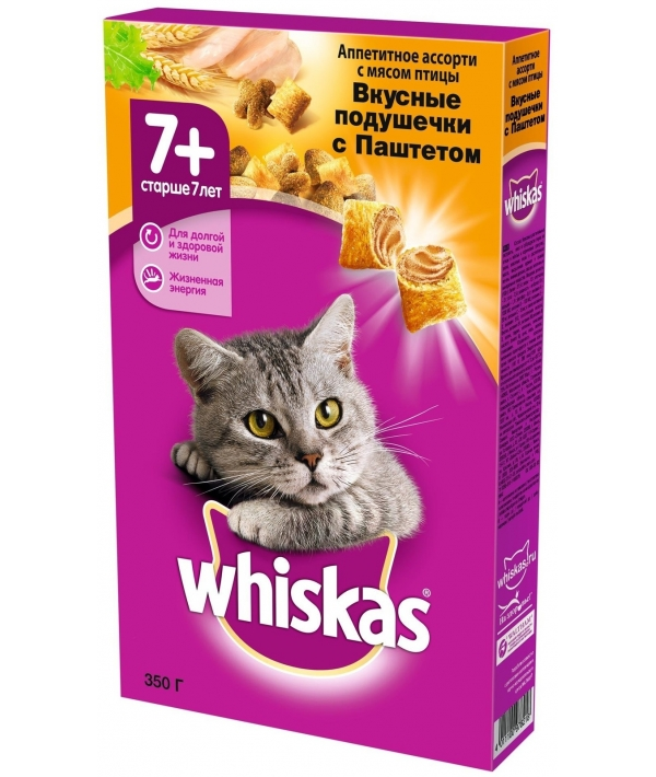 Сухой корм для кошек старше 7 лет, паштет птица, 10116578