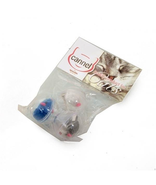 """Игрушка для кошек """"Мяч пластиковый с мышью 3 шт./уп."""" (142400)"""
