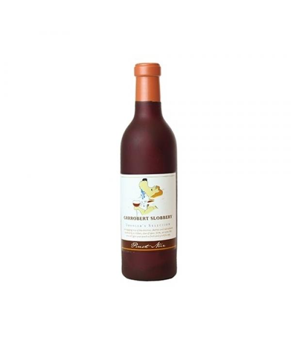 "Виниловая игрушка – пищалка для собак Бутылка вина ""Грубер слюнопускатель"" (Wine Bottle Groobert ) SS – WB – GS"