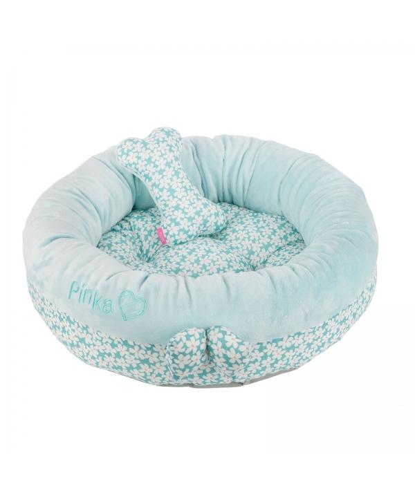 """Кровать – лежанка со съемной подушкой """"Виола"""", бирюзовый (50 х 50 х 13) (VIOLA BED/AQUA/FR) NAQA – AU7206 – AQ – FR"""