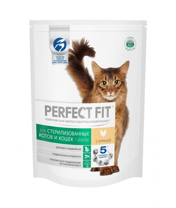 Сухой корм стерилизованных кошек, с курицей (PERFECT FIT Sterile Ck 16*190g) 10162165