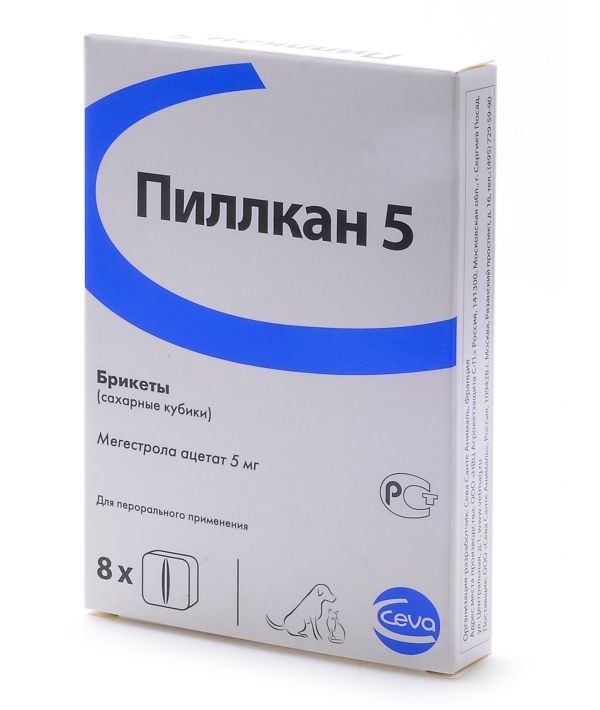 Пиллкан – 5 Контрацептив для кошек, 8 сахарных кубиков – 12658
