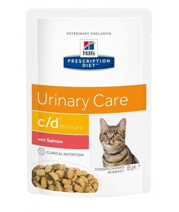 Паучи C/D для кошек при профилактике МКБ с лососем (кусочки в соусе) 1882M