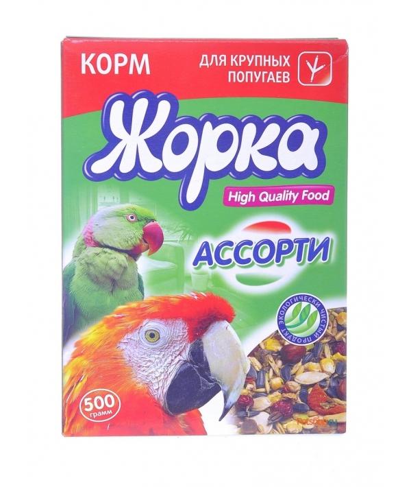 HQF корм для крупных попугаев ассорти