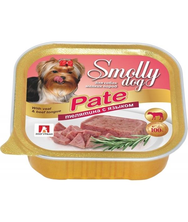 """Консервы для собак """"Smolly dog"""" Телятина с языком (2465)"""