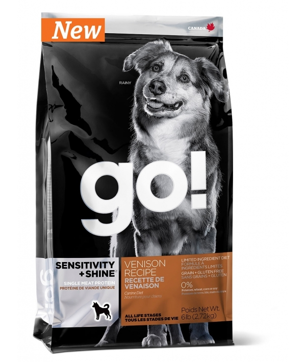 Беззерновой для Щенков и Собак со свежей олениной для чувств. пищеварения (Sensitivity + Shine LID Venison Recipe Grain Free, Potato Free 22/12)