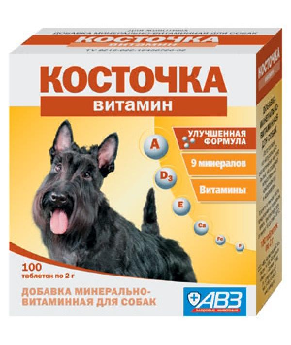 Подкормка Косточка Витамин для собак,, 100таб.
