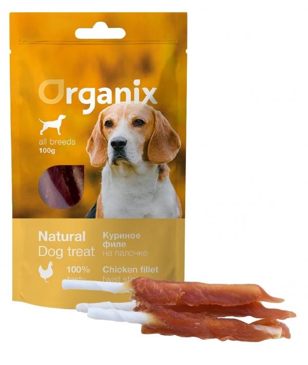 Лакомство для собак «Куриное филе на палочке» (100% мясо) (Chicken fillet/ bleached twist stick)100 гр