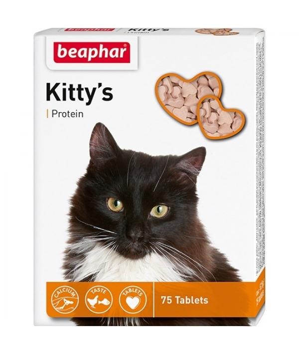 Витамины для кошек с протеином, рыбки (Kitty's Protein) 75шт. (12510)