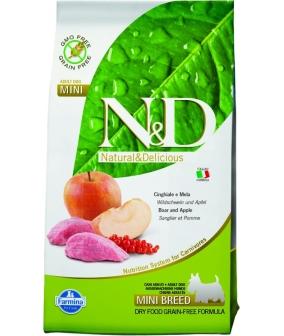 N&D GF Беззерновой корм для собак мелких пород с мясом дикого кабана и яблоком 1049