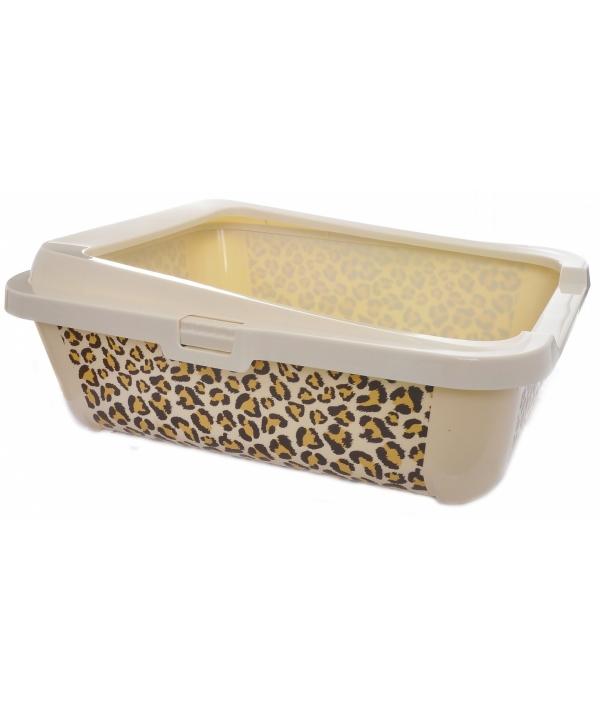 """Туалет – лоток """"Сафари"""" с бортами, 51х39х19см (Safari)"""