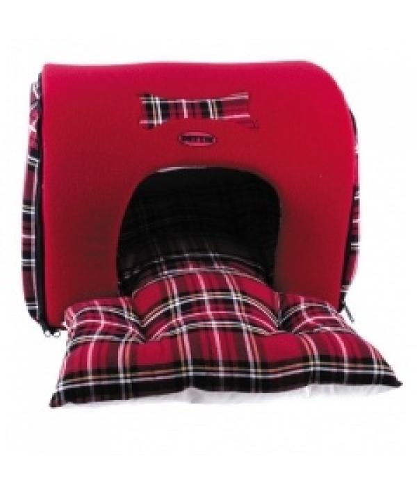Мягкий домик – лежак, красный,разборная конструкция, 44*35*30см (5625896)