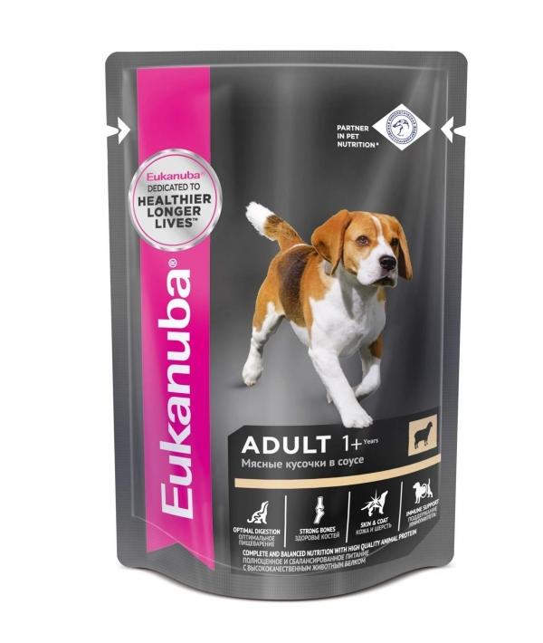 Паучи корм для собак с ягненком в соусе (10151135)