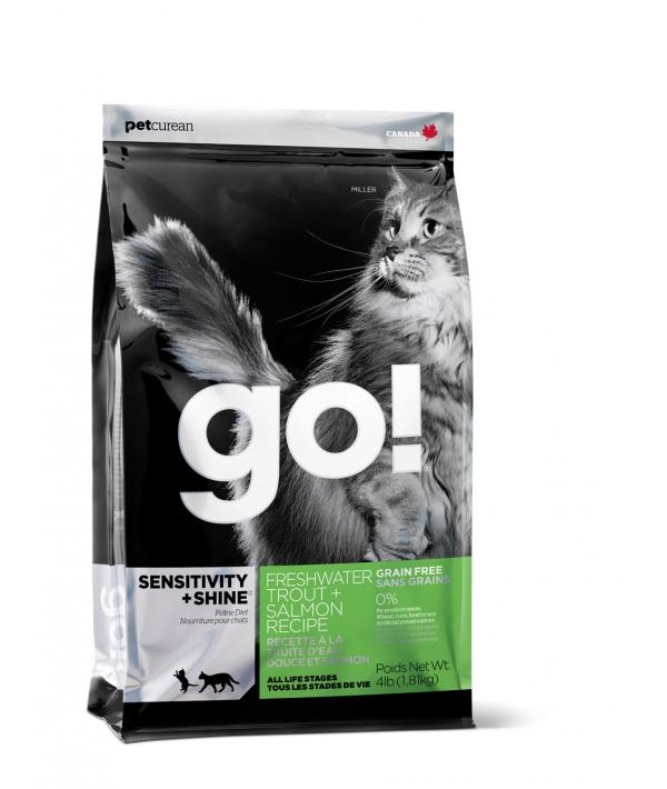 Беззерновой для Котят и Кошек с Чувств.пищеварением: Форель, Лосось (Sensitivity + Shine Grain Free Freshwater Trout&Salmon Cat Recipe 48/18
