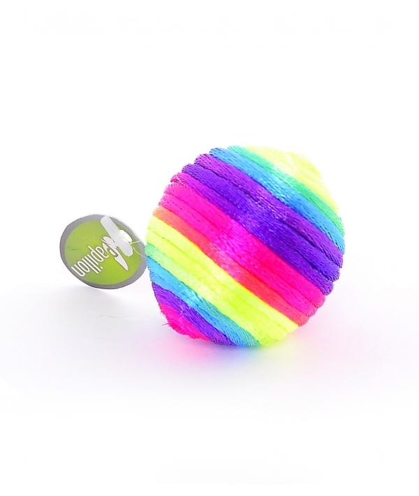 """Игрушка """"Радужный мячик"""" с погремушкой, текстиль 3½см (Rainbow ball) 240036"""