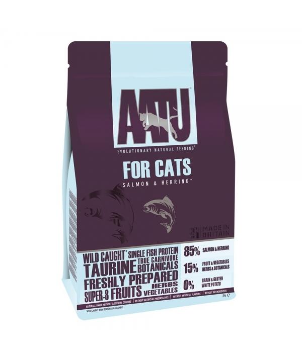 Корм для кошек Лосось и Сельдь 85/15 (AATU CAT SALMON & HERRING) AFCAT200