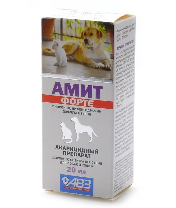 Амит форте – акарицидный препарат для лечения демодекоза, отодектоза и др. саркоптоидозов на основе фипронила