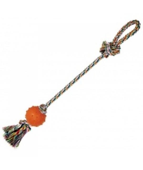 """Игрушка """"Веревка № 6"""" для собак, 60см, хлопок, резина (5608072)"""