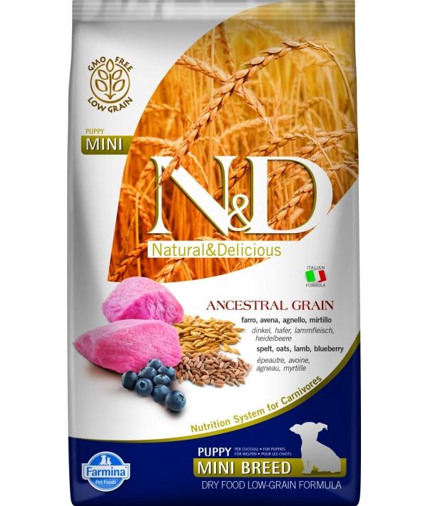 N&D LG Сухой корм для щенков мелких пород с ягненком и черникой 4023