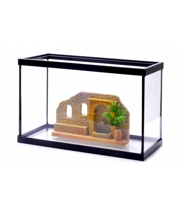 Аквариум с декором, 30 * 15 * 20 см (Lot promo fishtank + decoration) 44104
